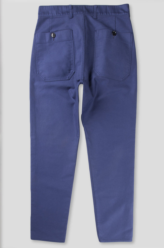 GANRYU WASHED MOLESKIN PANT NAVY - BLENDS
