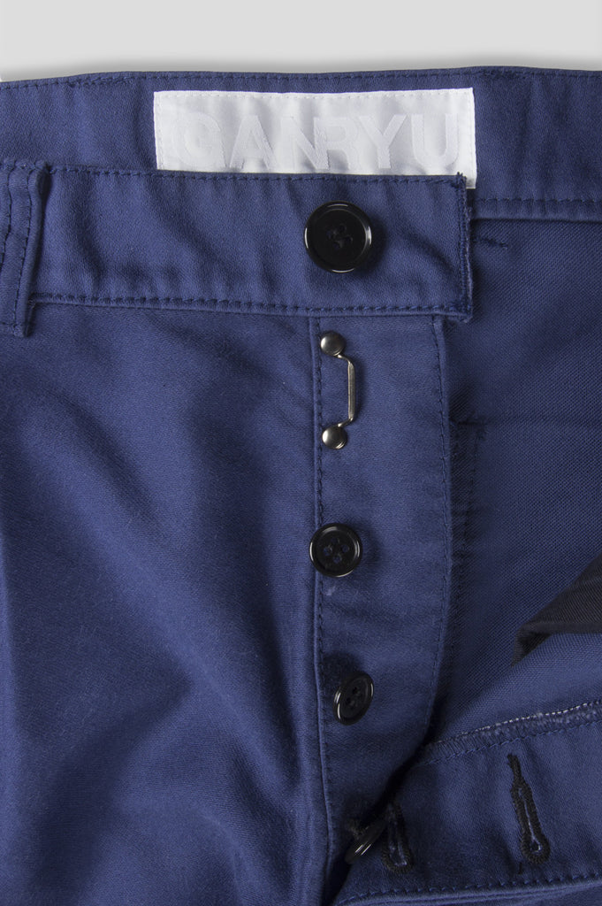 GANRYU WASHED MOLESKIN PANT NAVY