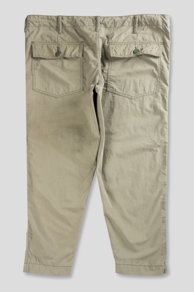 GANRYU COTTON NYLON PEACH SKIN CHINO BEIGE
