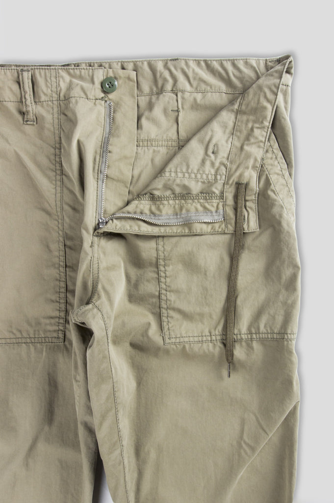 GANRYU COTTON NYLON PEACH SKIN CHINO BEIGE - BLENDS