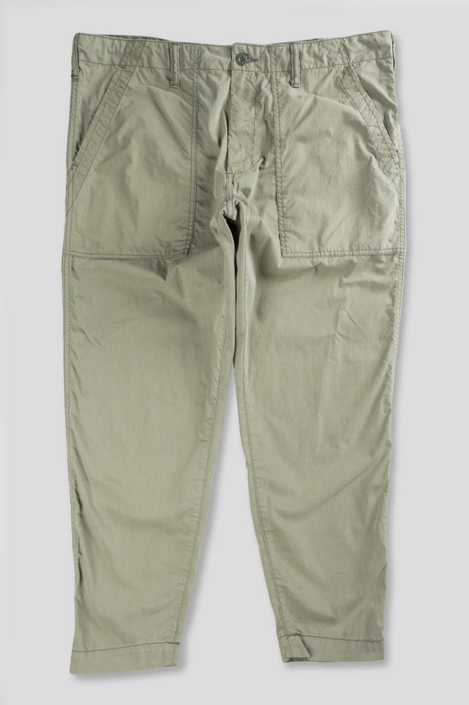 GANRYU COTTON NYLON PEACH SKIN CHINO OLIVE - BLENDS