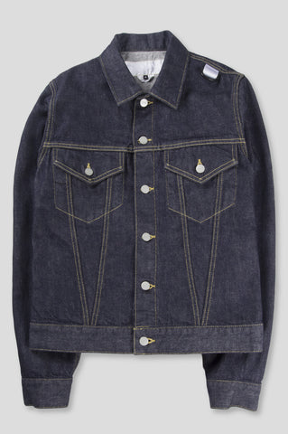 GANRYU GARMENT DYED SELVEDGE DENIM JACKET INDIGO