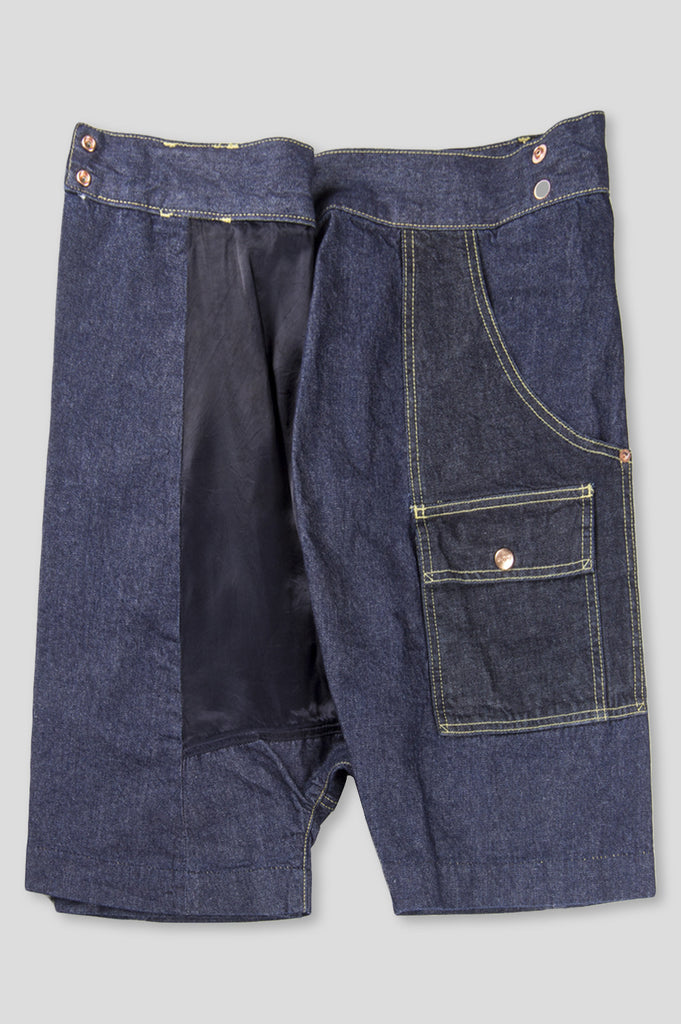 GANRYU DENIM THAI FISHERMAN SHORT INDIGO