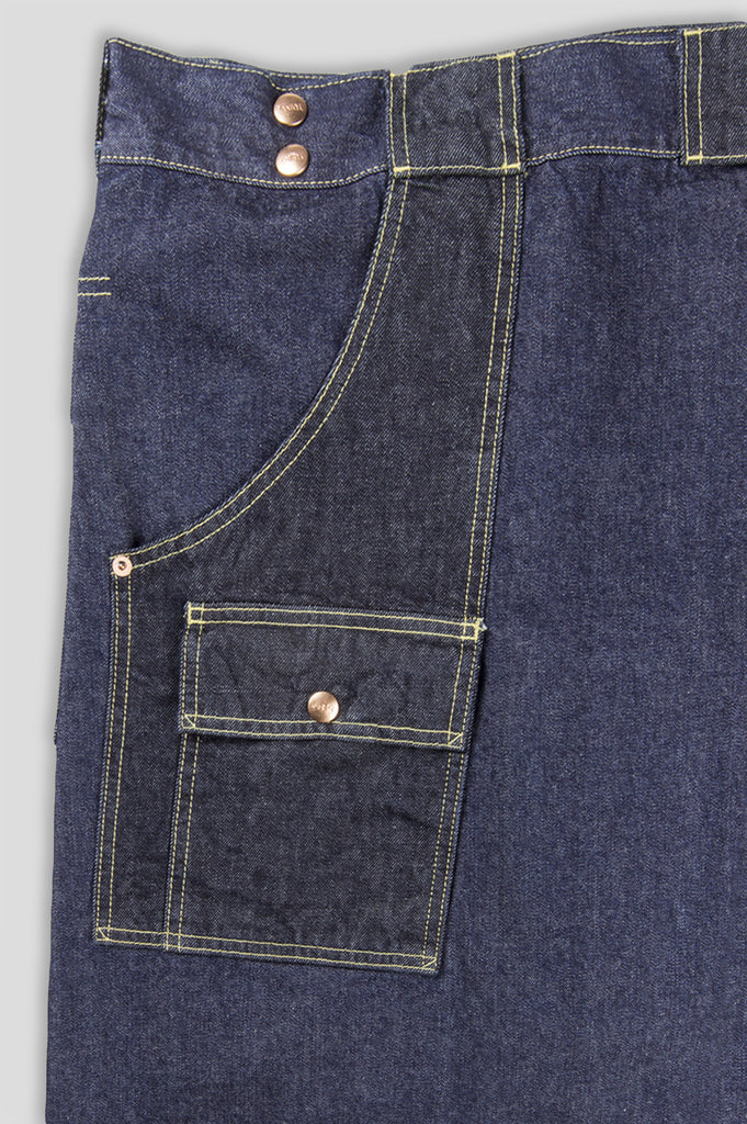 GANRYU DENIM THAI FISHERMAN SHORT INDIGO - BLENDS