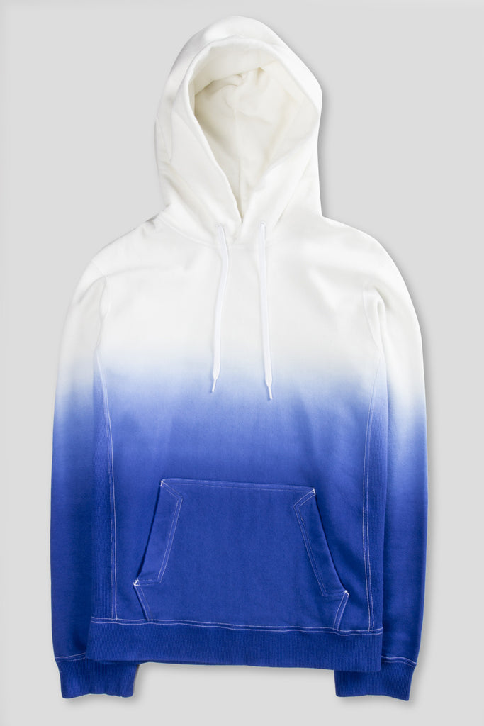GANRYU GRADIENT PULLOVER HOODY BLUE WHITE