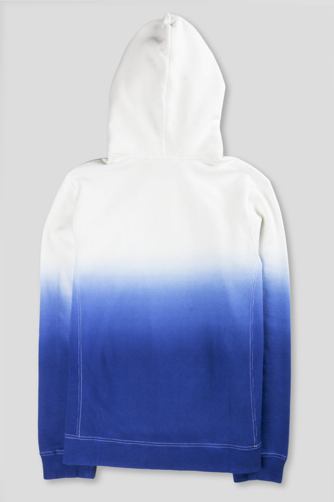 GANRYU GRADIENT PULLOVER HOODY BLUE WHITE - BLENDS