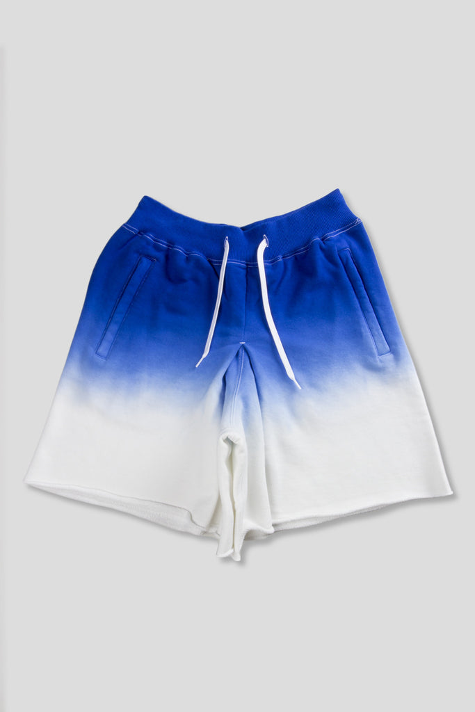 GANRYU GRADIENT KNIT SHORT BLUE WHITE