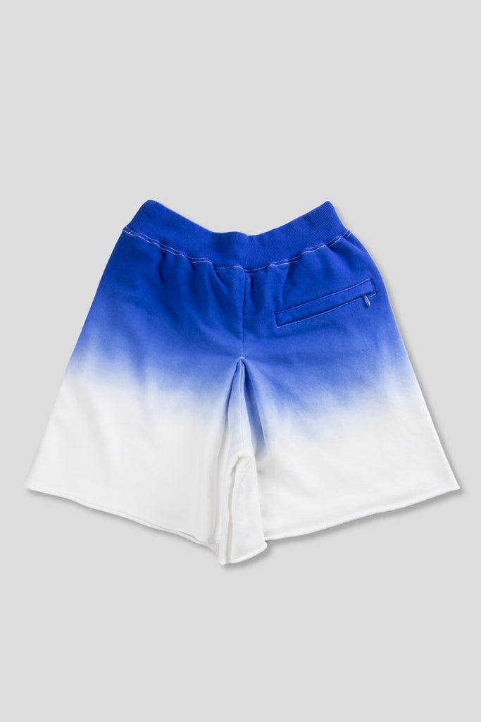 GANRYU GRADIENT KNIT SHORT BLUE WHITE - BLENDS