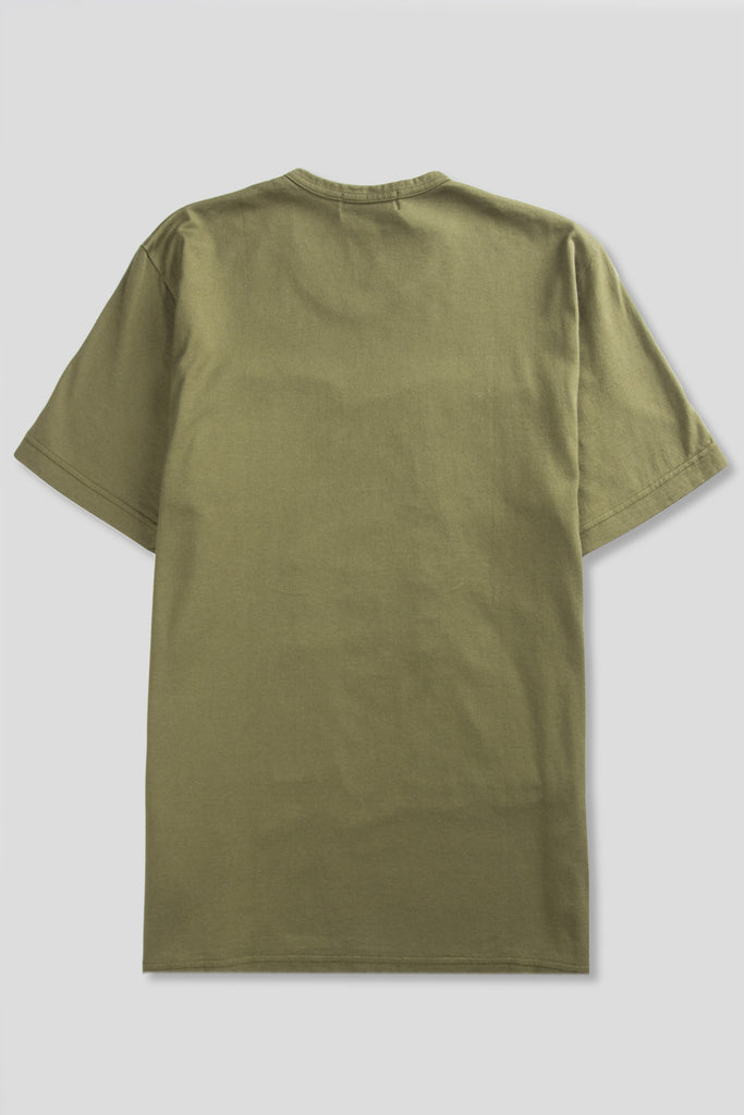 GANRYU SS PANEL POCKET TSHIRT OLIVE KHAKI - BLENDS