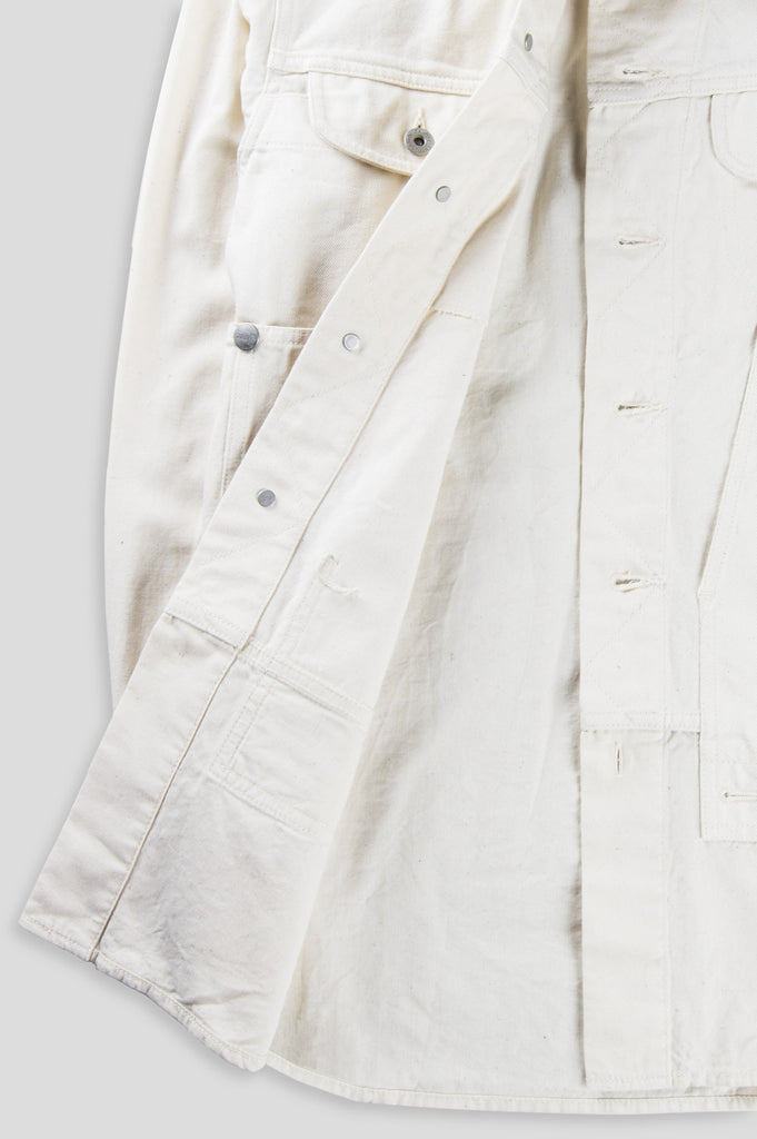 GANRYU COTTON TWILL GARMENT WASHED BUTTON DOWN NATURAL - BLENDS