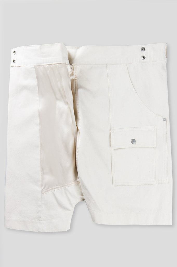 GANRYU COTTON TWILL THAI FISHERMAN SHORT NATURAL - BLENDS