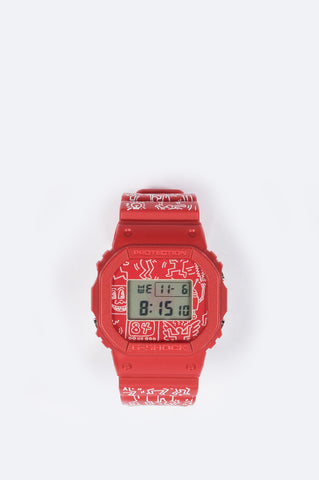 G-SHOCK x KEITH HARING DW-5600 RED