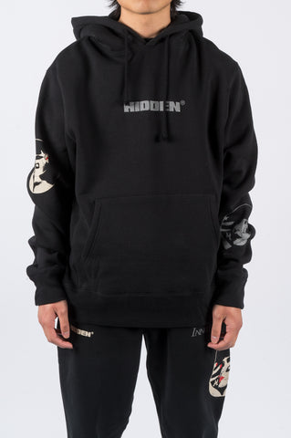 HIDDEN CHARACTERS INNOCENCE HOODY BLACK - BLENDS