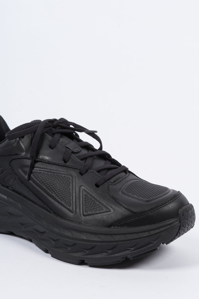 HOKA ONE ONE BONDI LEATHER BLACK - BLENDS