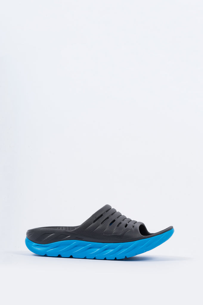 HOKA ONE ONE ORA RECOVERY SLIDE EBONY DRESDEN BLUE - BLENDS