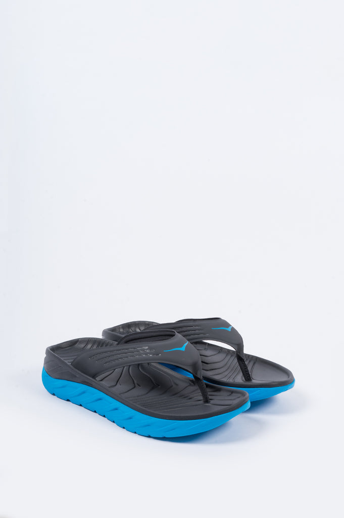 HOKA ONE ONE ORA RECOVERY FLIP EBONY DRESDEN BLUE - BLENDS