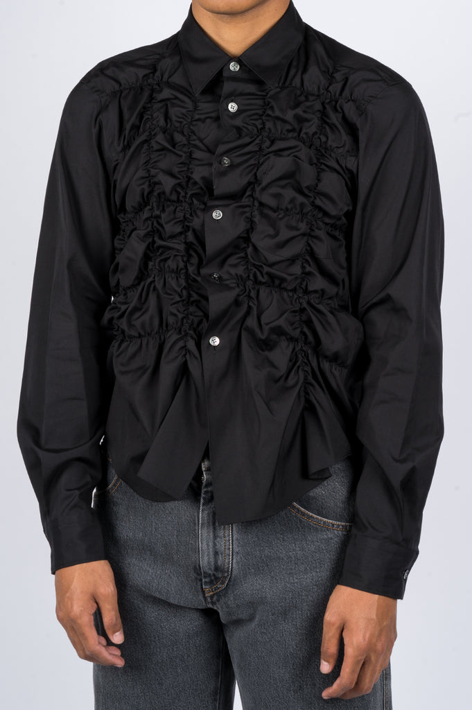 COMME DES GARCONS HOMME PLUS BUNCHED UP SHIRT BLACK - BLENDS