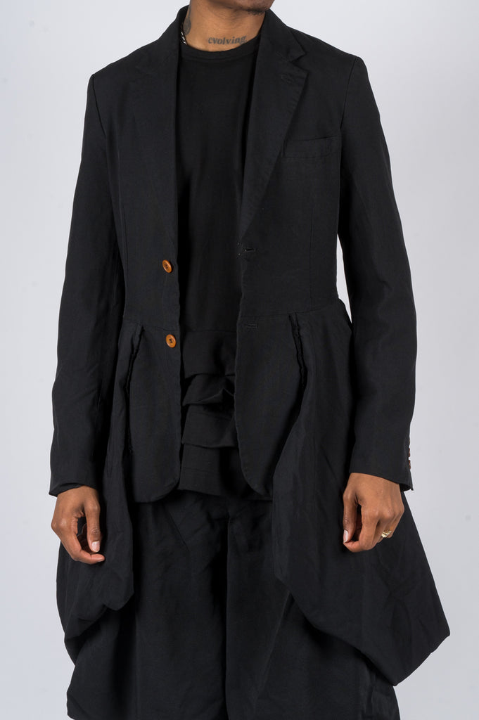 COMME DES GARCONS HOMME PLUS POLY HYBRID JACKET BLACK - BLENDS
