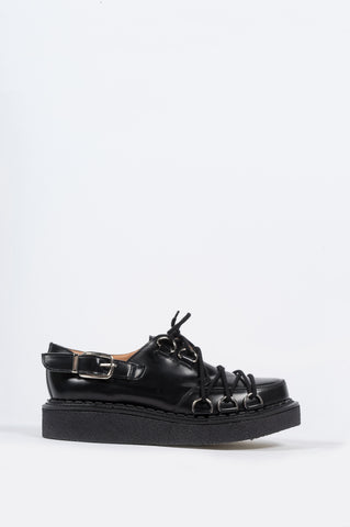 COMME DES GARCONS X GEORGE COX D-RING DERBY CREEPER BLACK