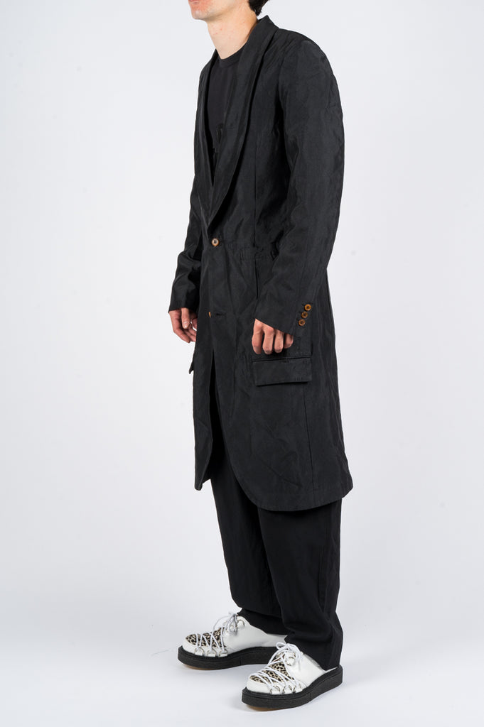 COMME DES GARCONS HOMME PLUS SINGLE BREASTED LONG COAT BLACK - BLENDS