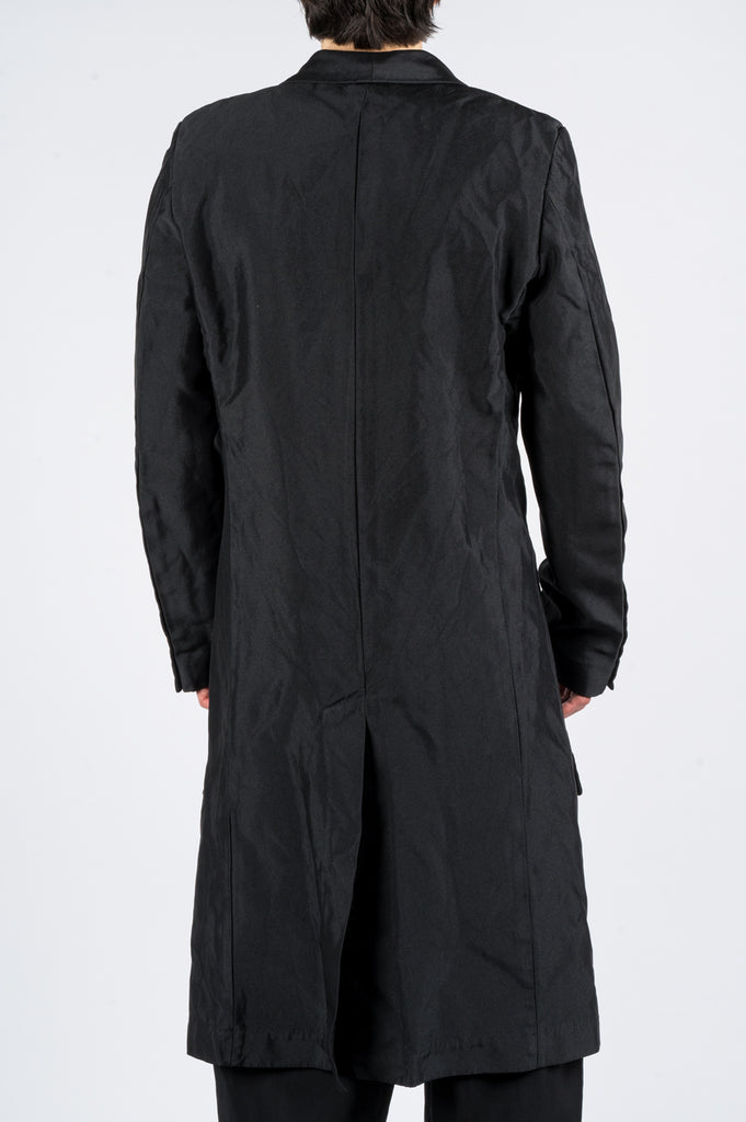 COMME DES GARCONS HOMME PLUS SINGLE BREASTED LONG COAT BLACK