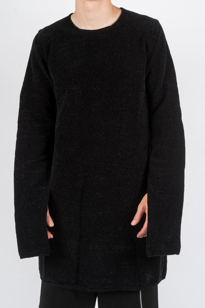 COMME DES GARCONS HOMME PLUS KNITTED SWEATER BLACK - BLENDS