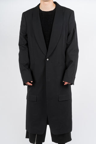 COMME DES GARCONS HOMME PLUS SINGLE BREASTED COAT BLACK - BLENDS