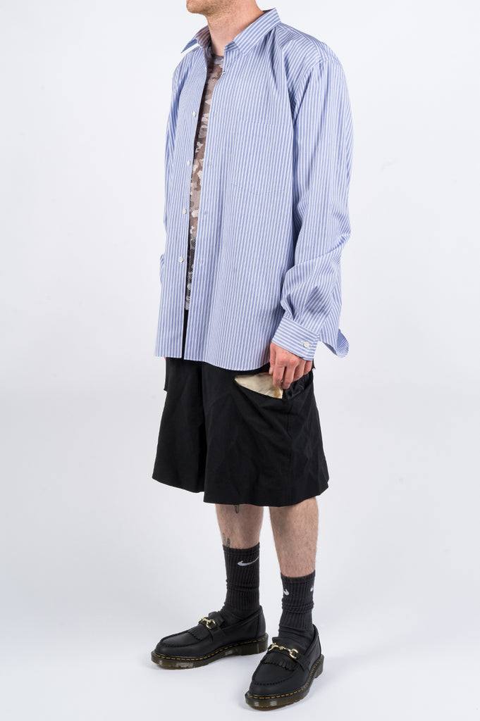 COMME DES GARCONS HOMME PLUS STRIPED SHIRT BLUE WHITE - BLENDS