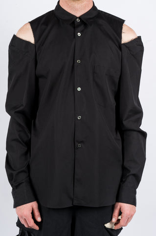 COMME DES GARCONS HOMME PLUS CUT OUT SHIRT BLACK - BLENDS