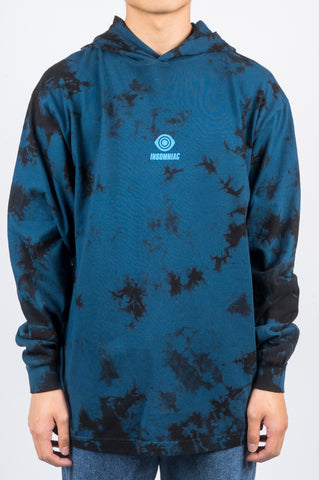INSOMNIAC MIDNIGHTERS HOODED LS TEE NAVY