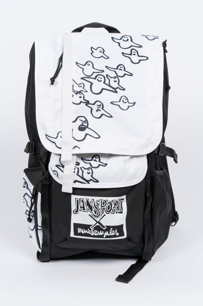JANSPORT X MARK GONZALES THE GONZ BIRD BLACK WHITE