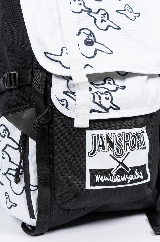 JANSPORT X MARK GONZALES THE GONZ BIRD BLACK WHITE - BLENDS