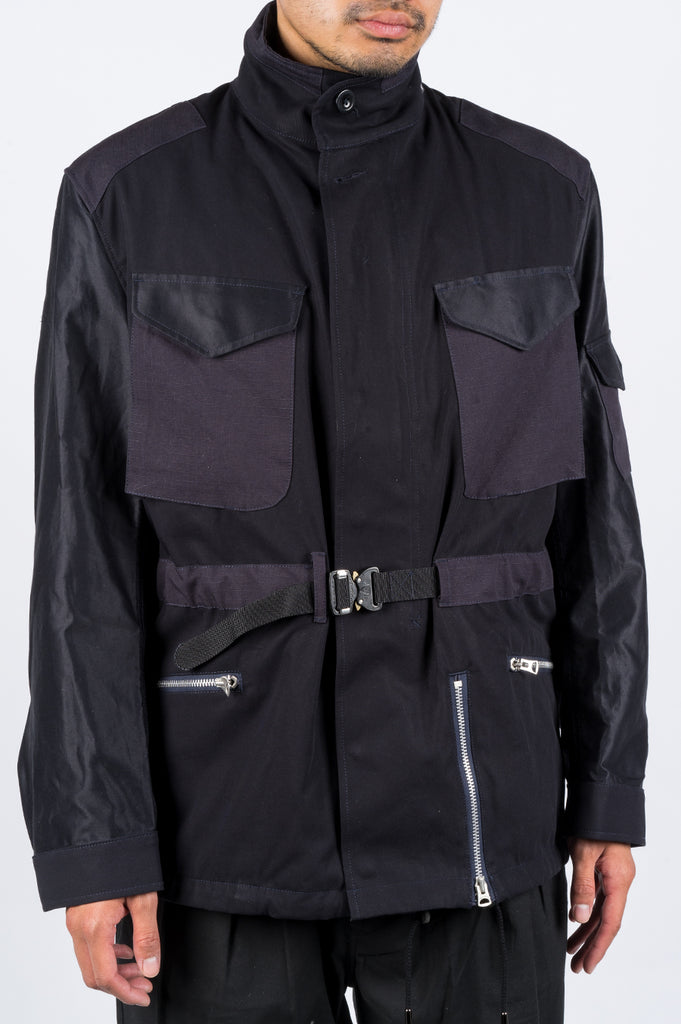 JUNYA WATANABE M-65 HERVIER JACKET NAVY - BLENDS