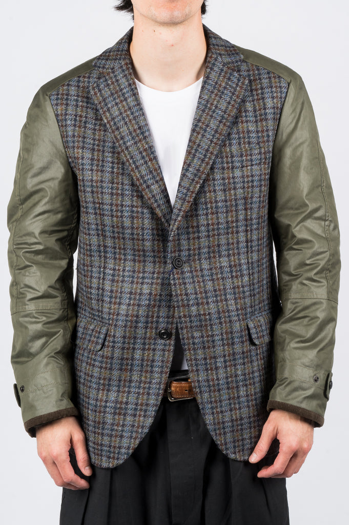 JUNYA WATANABE MAN HYBRID SPORT COAT PLAID - BLENDS