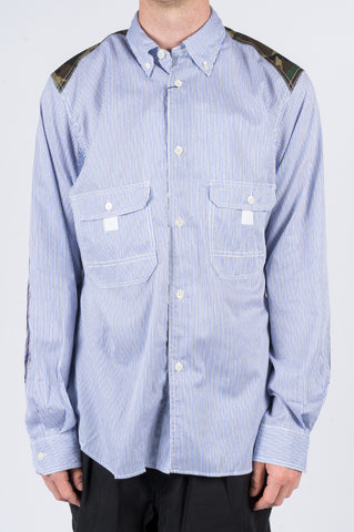 JUNYA WATANABE MAN OXFORD SHIRT BLUE - BLENDS