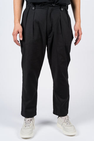 JUNYA WATANABE COTTON PANT BLACK - BLENDS