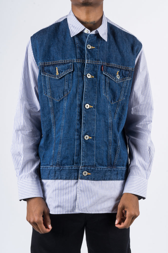 JUNYA WATANABE MAN X LEVIS COTTON DENIM SHIRT - BLENDS