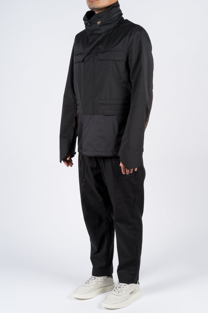 JUNYA WATANABE NYLON CONVERTIBLE JACKET W/ POUCH BLACK - BLENDS