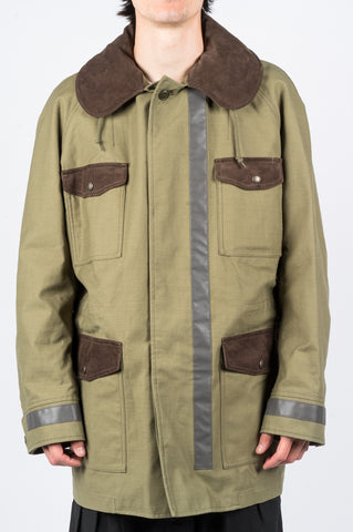JUNYA WATANABE MAN REFLECTIVE PARKA GREEN - BLENDS