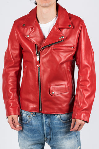JUNYA WATANABE MAN X SCHOTT LEATHER JACKET RED - BLENDS