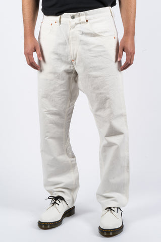 JUNYA WATANABE COTTON LINEN PANT WHITE - BLENDS