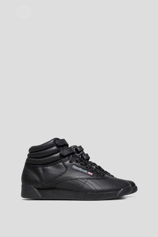 REEBOK WOMENS FREESTYLE HI BLACK - BLENDS