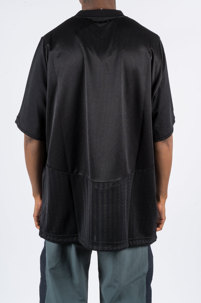 MARTINE ROSE CANDELLA TWO WAY FOOTBALL TOP BLACK - BLENDS