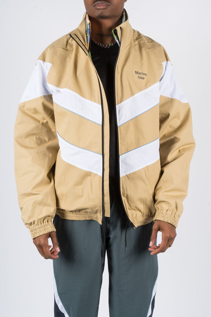 MARTINE ROSE DUB JACKET BEIGE - BLENDS