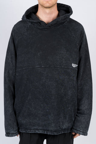 MARTINE ROSE ACID WASH HOODIE BLACK
