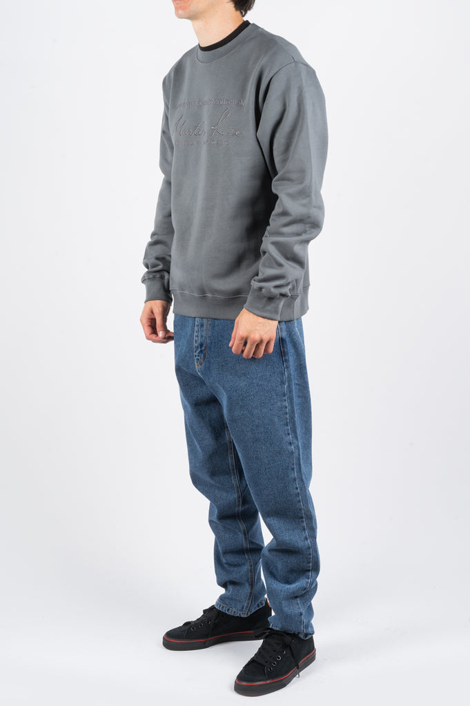 MARTINE ROSE CLASSIC CREW GREY - BLENDS