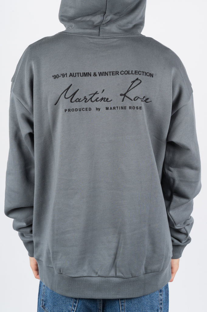 MARTINE ROSE CLASSIC HOODIE GREY - BLENDS
