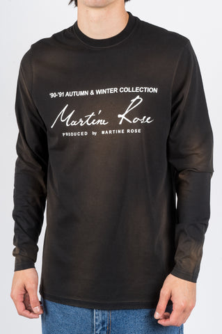 MARTINE ROSE CLASSIC LS TSHIRT SUNBLEACH BLACK - BLENDS