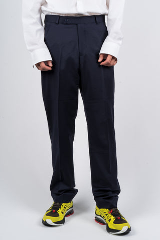 MARTINE ROSE PANELED TAILORED TROUSER NAVY