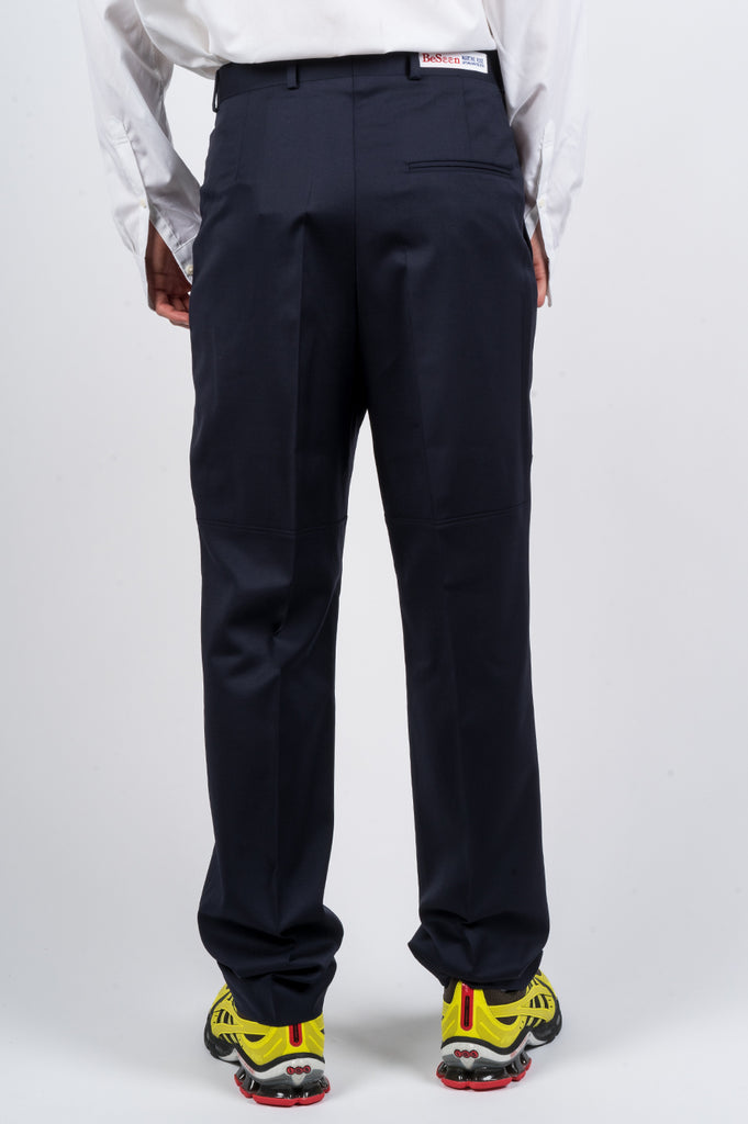 MARTINE ROSE PANELED TAILORED TROUSER NAVY - BLENDS